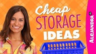 Cheap Storage Ideas   Dollar Store Haul
