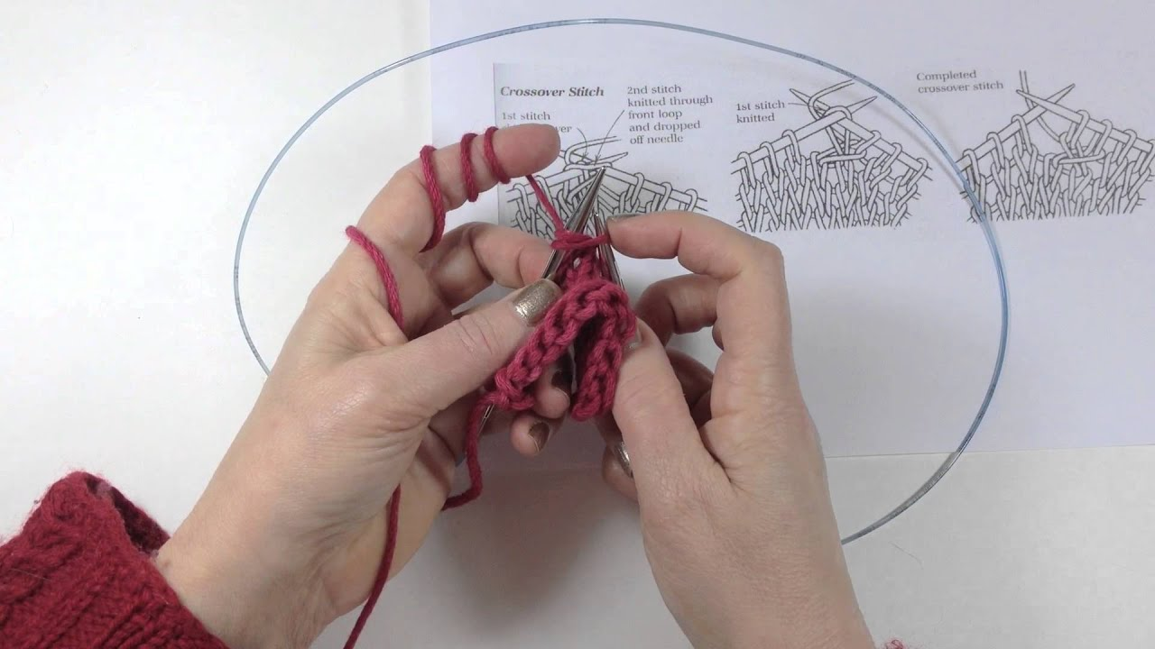 Sheep to Shawl - Making a Crossover Stitch - YouTube