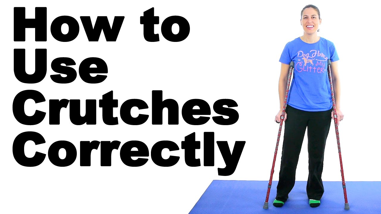 How to Use Crutches Correctly - Ask Doctor Jo - YouTube
