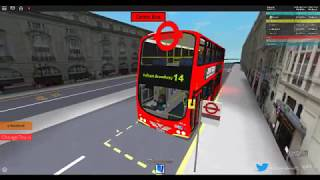 ROBLOX | London & South Bus Simulator V7.1 | Route 14: Warren Street to Fulham Broadway