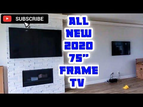 "2020 75"" Samsung Frame TV Install In A 4 Story Condo!?"