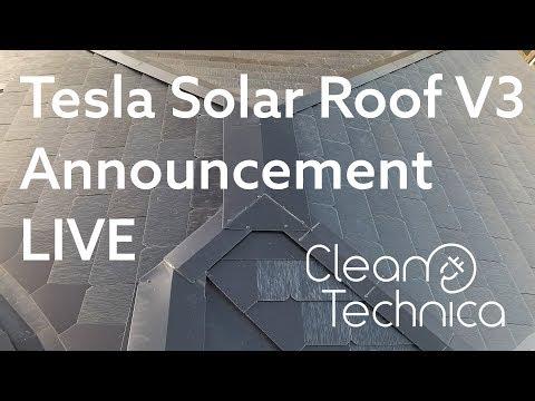 Tesla Solar Roof V3 Announcement Live