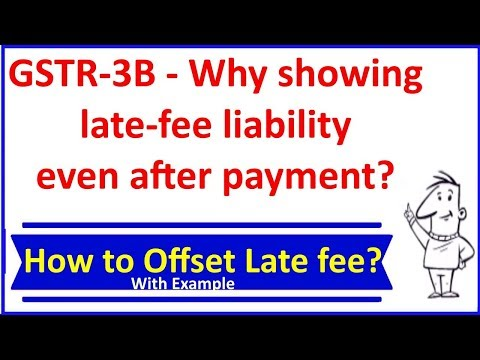 GSTR-3B - Why showing late-fee liability even after payment? How to Offset Late fees With Example?