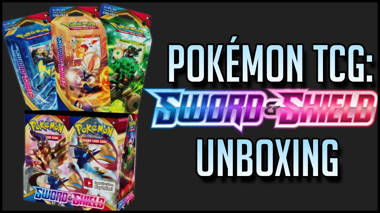 Pokémon TCG: Sword & Shield Booster Box & Theme Decks UNBOXING!