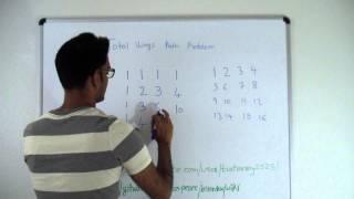 Total Ways in Matrix Dynamic Programming