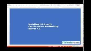 8 installing ssl certificate on citrix xendesktop 7 6 server
