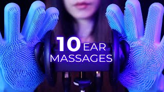 ASMR 10 Ear Massages for Sleep (No Talking)