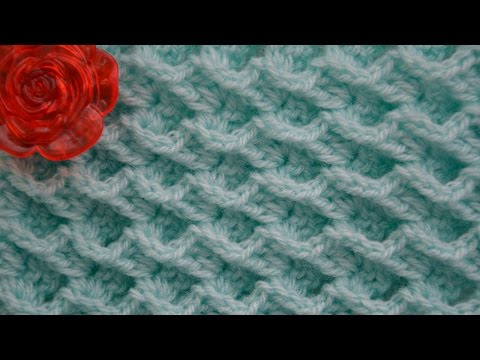 ♦ Объемный 3D Узор крючком Волны океана • Ellej