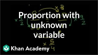 Solving a proportion wİth an unknown variable (example)   7th grade   Khan Academy