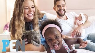 Thomas Rhett & Wife Lauren On Welcoming Daughters Within Three Months | PEN | Entertainment Weekly