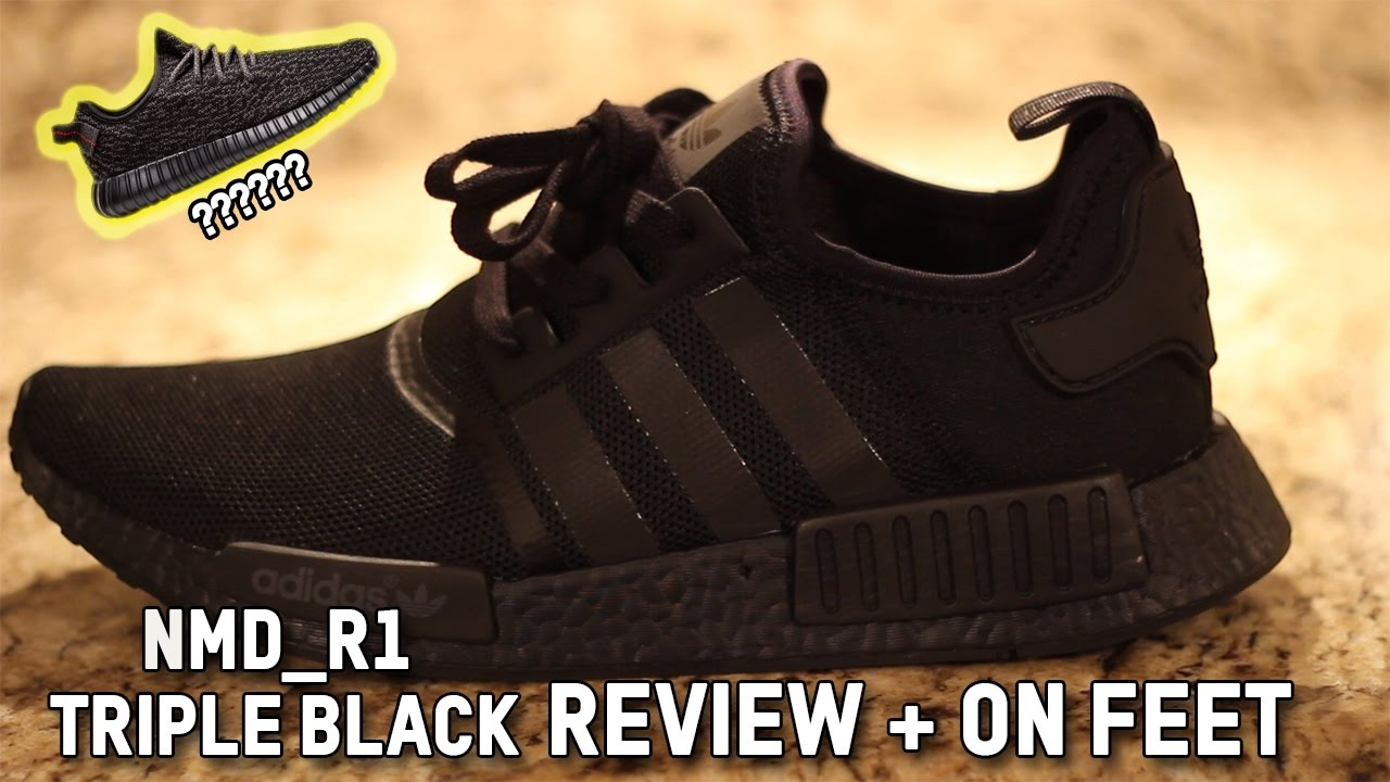 8a110bedf8a8f9 ADIDAS TRIPLE BLACK NMD REVIEW + ON FEET - YouTube