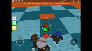 Playing some epic mini games on roblox
