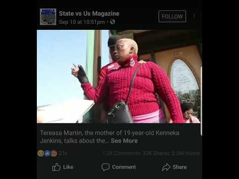 TEREASA MARTIN TELLS REPORTERS WHAT HAPPENED TO KENNEKA JENKINS