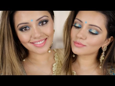 Indian Makeup Look | Turquoise + Gold