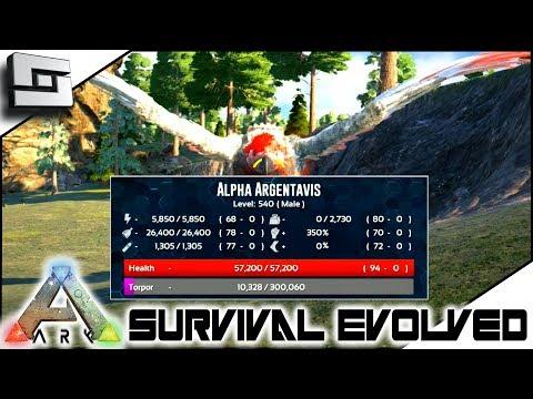 ARK: Survival Evolved - ALPHA ARGY TAMING FAIL! S2E3 ( Modded Ark Extinction Core )