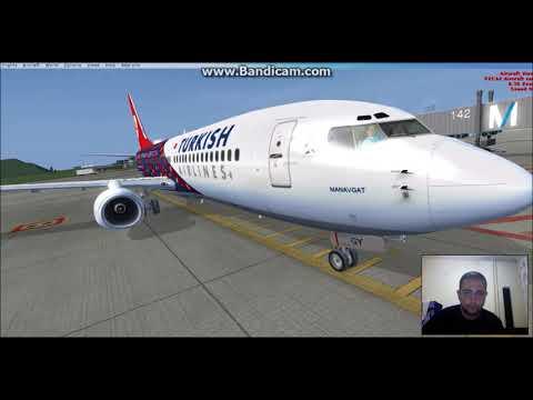 Ivao ortamında uçuş prosedürleri (BOEING 737-800 From munich to istanbul)