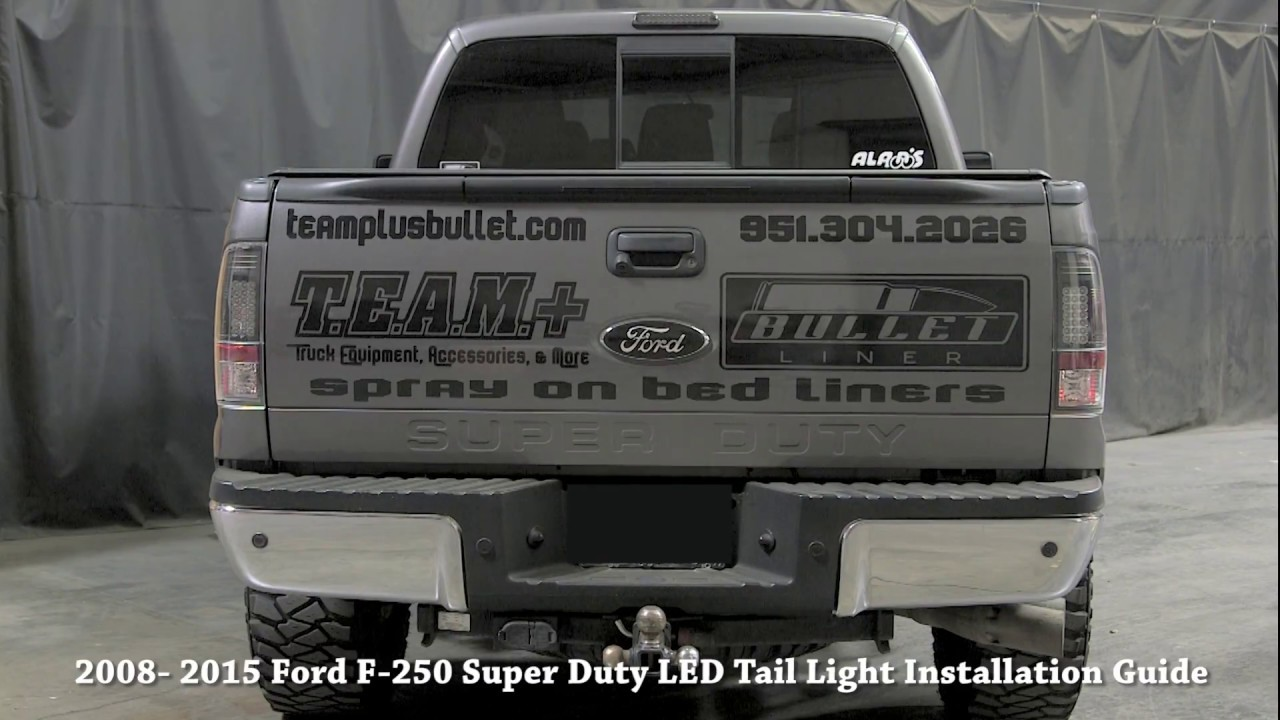 2008 16 Ford F250 Led Tail Light Installation Guide