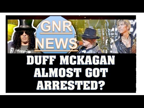 Guns N' Roses News: Duff Mckagan Almost Got Arrested?