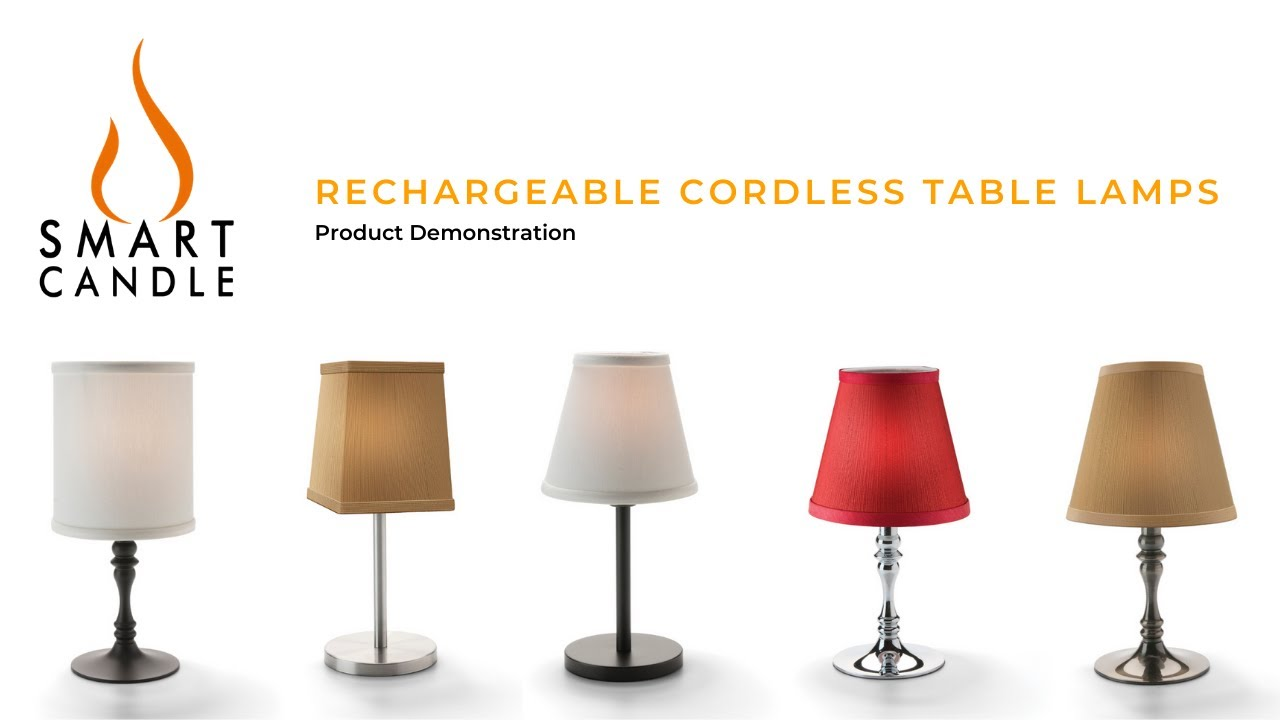 Cordless lamps, Cordless table lamps
