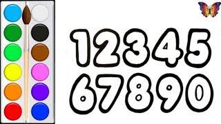 Как нарисовать ЦИФРЫ /  мультик раскраска ЦИФРЫ  для детей / Раскраски малышам