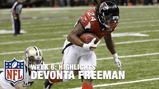 Devonta Freeman Highlights (Week 6) | Falcons vs. Saints | NFL