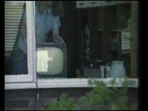 Satellite TV pioneer S J Birkill at his Sheffield home in 1982