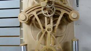 Wooden Gear Clock Completed