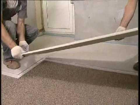 Современная методика выравнивания пола с применением сухой стяжки Кнауф