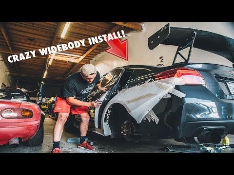 INSTALLING A WIDEBODY ON MY WRX Part 1