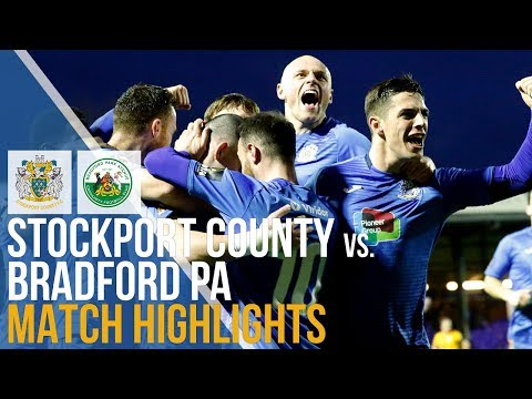 Stockport County Vs Bradford Park Avenue - Match Highlights - 05.01.2019