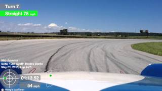 1964 Austin Healey Sprite run around Mid America Motorplex