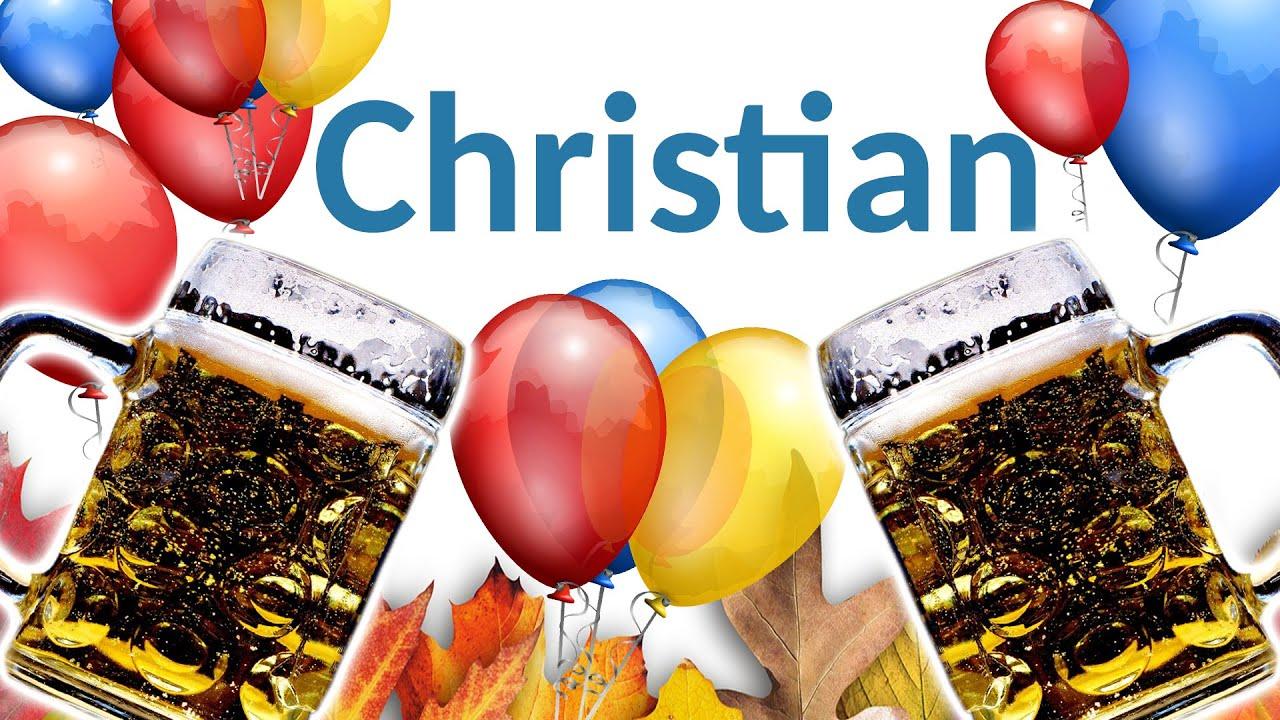 Christian Geburtstag