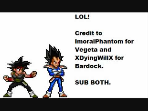 Bardock And Scouter Vegeta Sprites Youtube