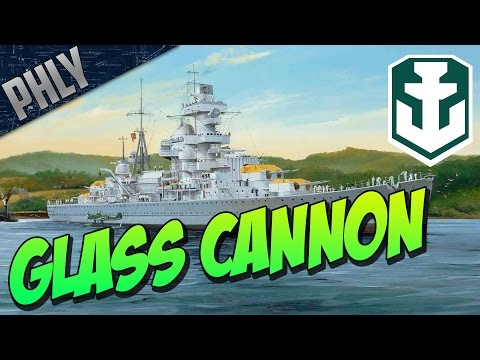 THE GLASS CANNON! ADMIRAL HIPPER - World Of Warships German Cruiser Gameplay