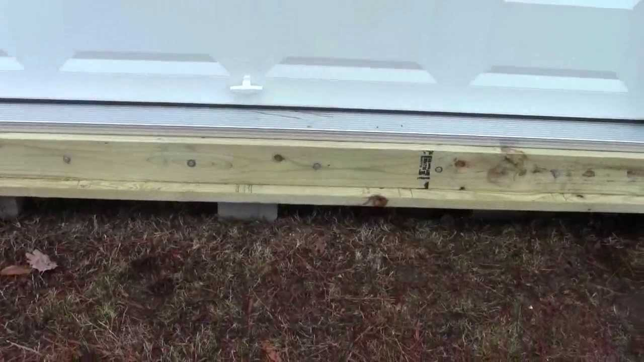 Ramp Ledger Board Installed On Shed 1 Of 3 Youtube