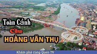 FlyCam Cầu Hoàng Văn Thụ Hải Phòng Hoang Van Thu bridge Haiphong