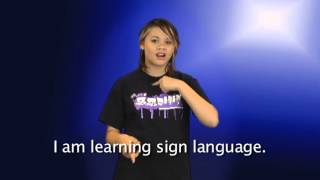 "Learn ASL: ""I'm learning sign language"""