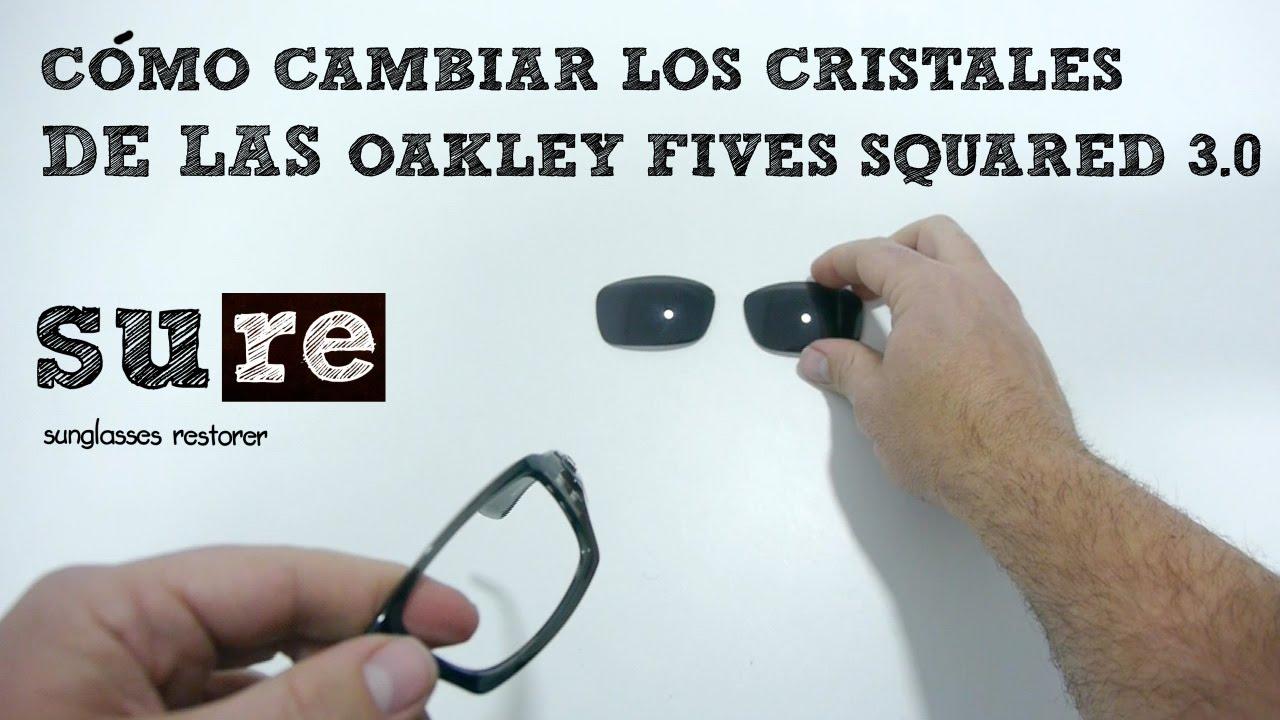 Lentes Oakley Fives Squared 3.0 – Como cambiar los cristales - YouTube