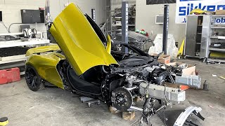 The McLaren 720s frame rails are installed - Episode 13