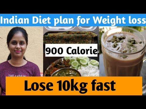 Indian Diet plan for weight loss | 900 calorie (day 10) | How to lose weight fast
