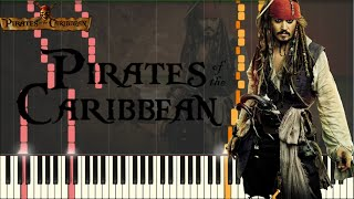 pirates of the caribbean medley intense version piano tutorial synthesia sheets midi