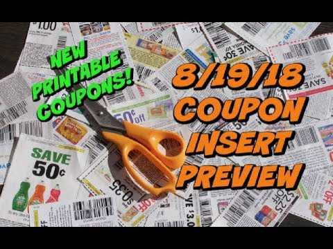 8/19/18 COUPON INSERT PREVIEW | 2 INSERTS & NEW PRINTABLE COUPONS!