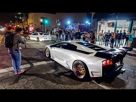 COPS JUST GAVE UP AND WATCHED!  SUPERCARS CONTROL THE STREETS