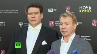 Евгений Миронов и Денис Мацуев открыли «Ночь кино» у Большого театра