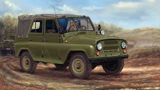 Модель автомобиля Уаз 469 1972 г. Маcштаб 1:43