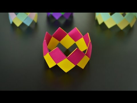 How to make simple paper bracelets
