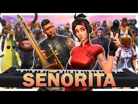 24 Players Play Señorita On Fortnite Piano