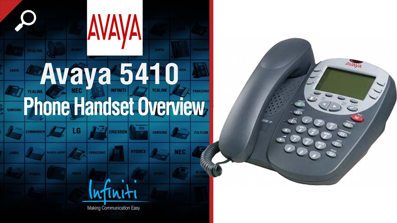 avaya 5410 phone handset overview infiniti telecommunications rh youtube com