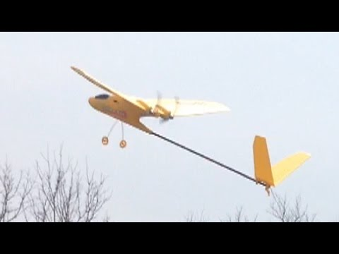 SDM Yellow Bee Park Flyer RC plane from Harbor Freight maiden flight ends in crash total destruction