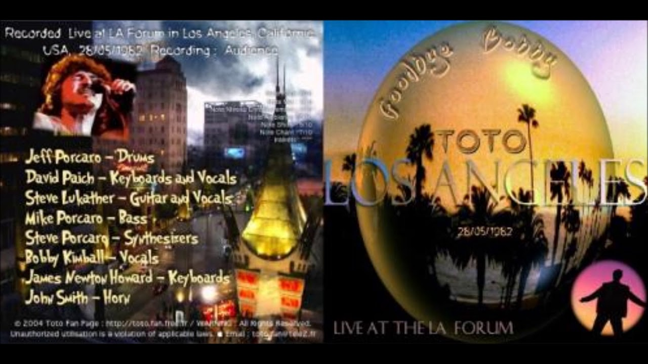 TOTO - Live at the LA Forum, Los Angeles 1982 - YouTube